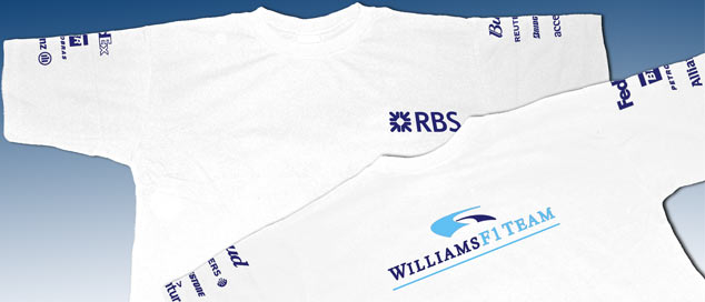 Футболка Williams SponsorLogo 2006 Белая